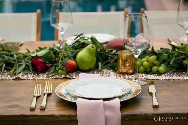 elegant plated dinner